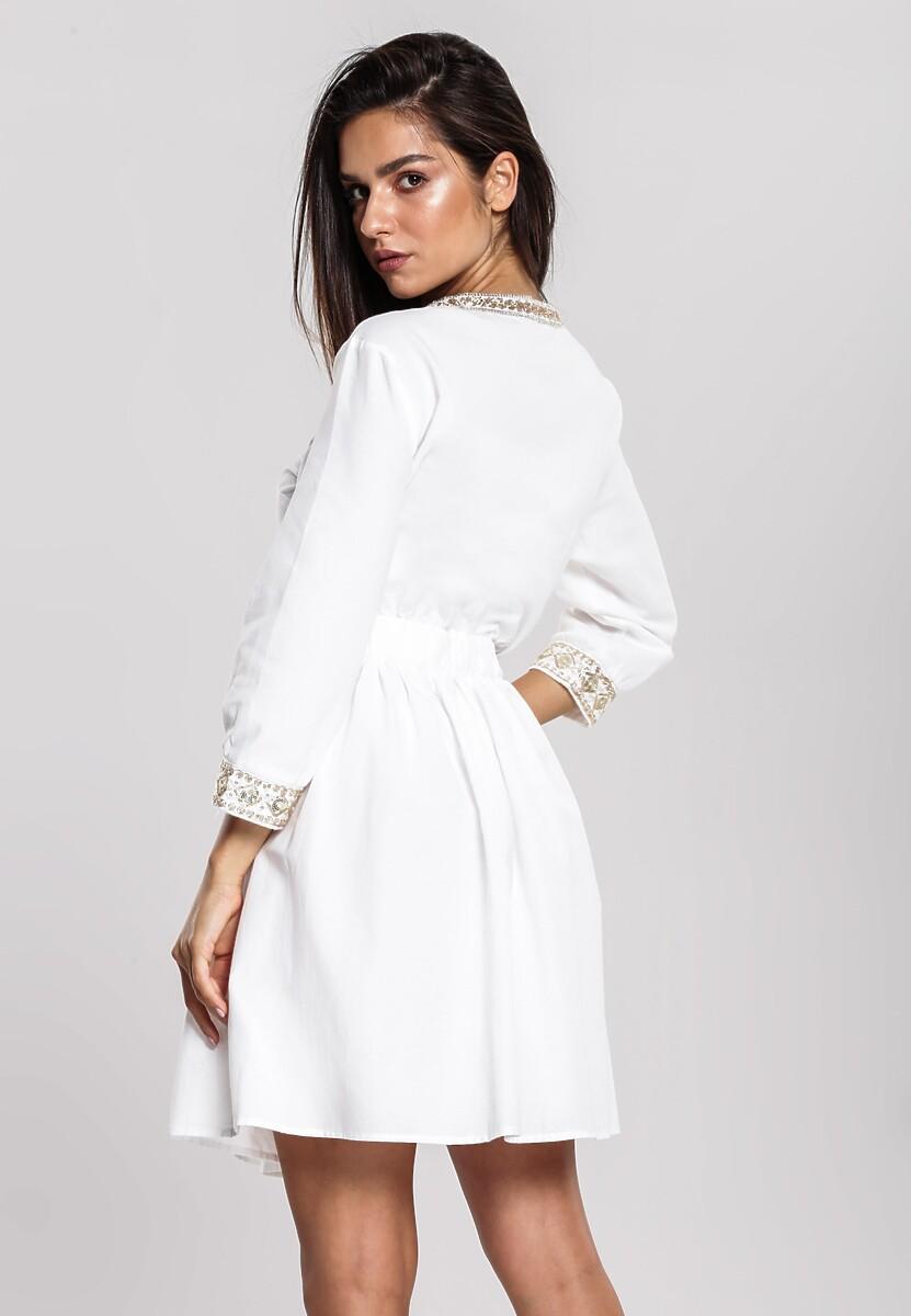 Biała Sukienka Solidity