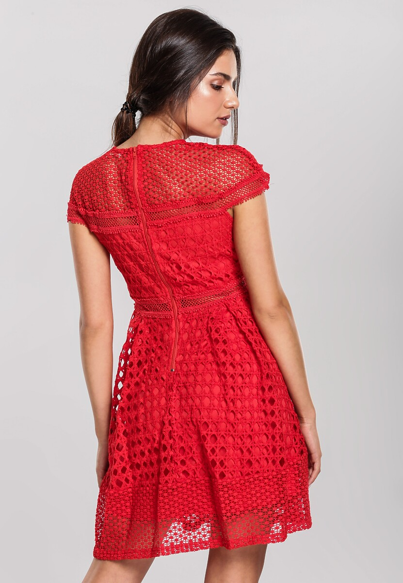 Czerwona Sukienka Debonaire