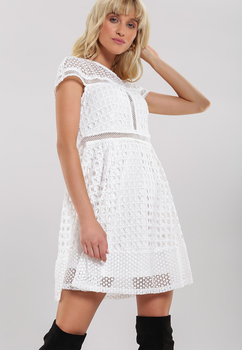 Biała Sukienka Debonaire