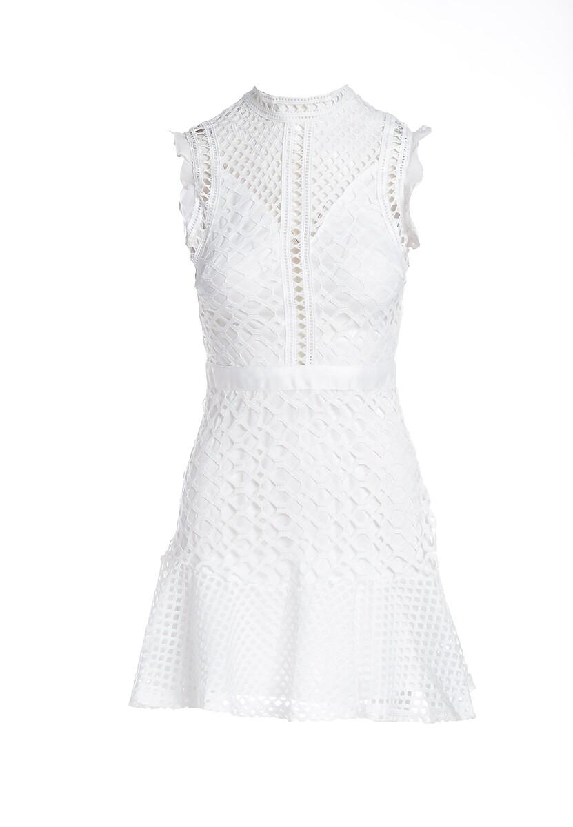Biała Sukienka Chipper