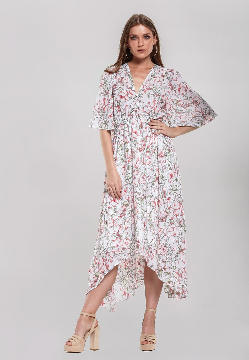 Biała Sukienka Debonair