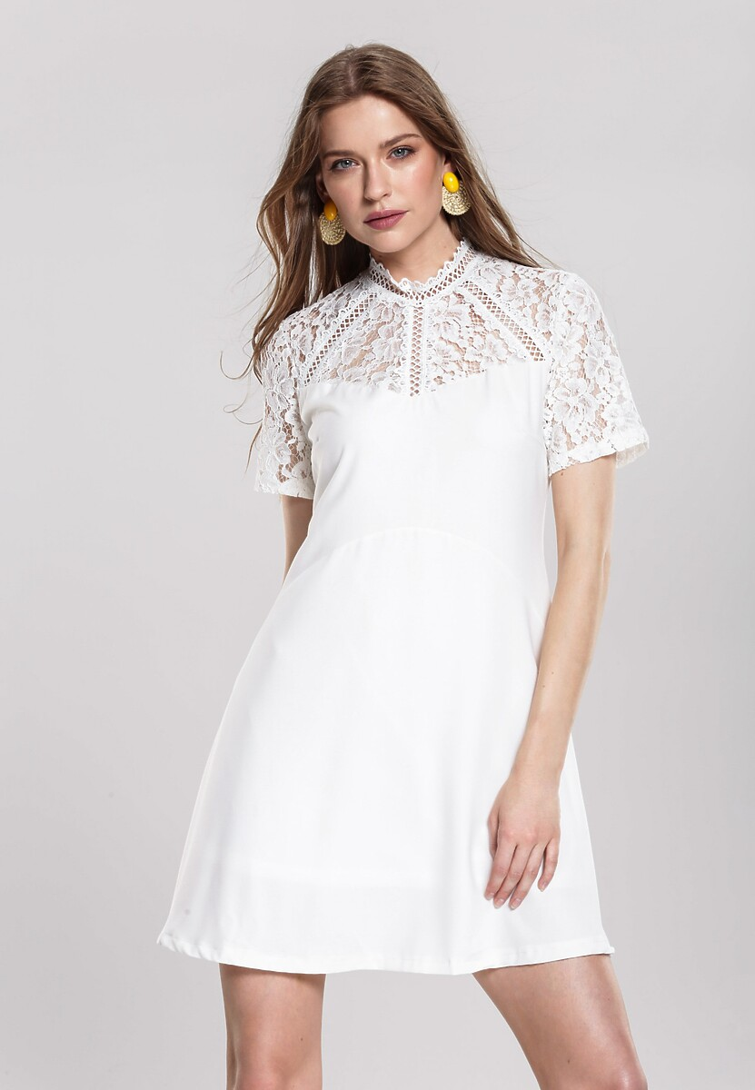 Biała Sukienka Chirpy