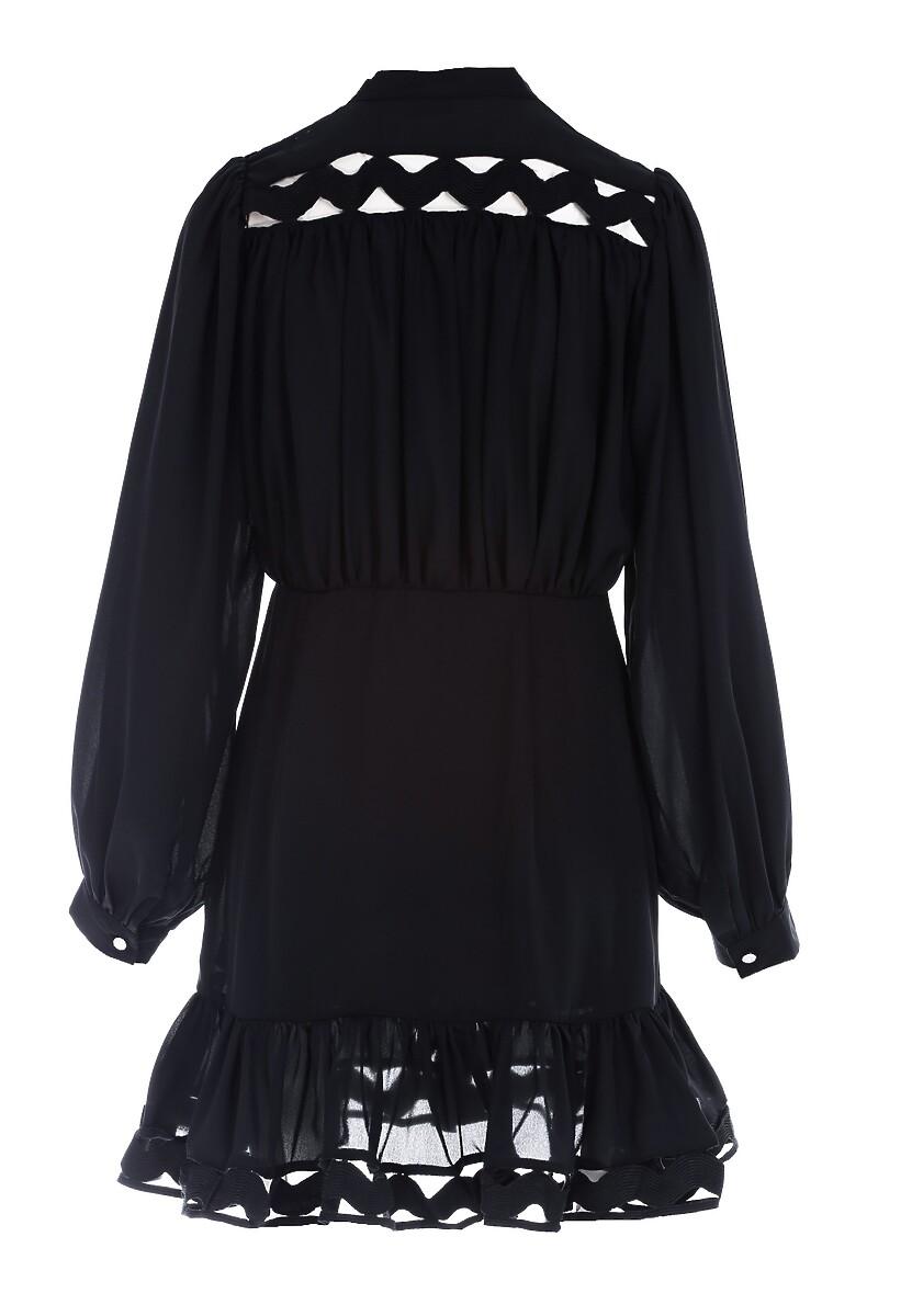 Czarna Sukienka Magic Flame