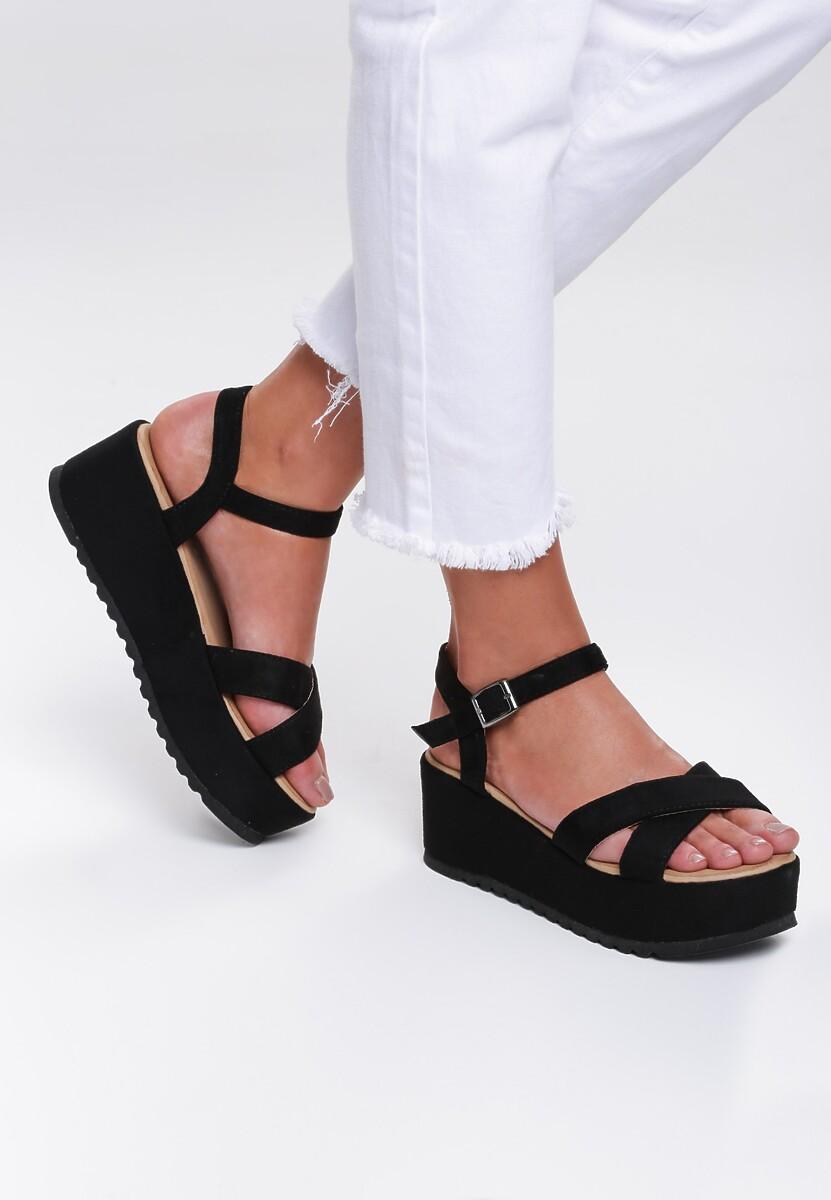 Czarne Sandały Turmoil