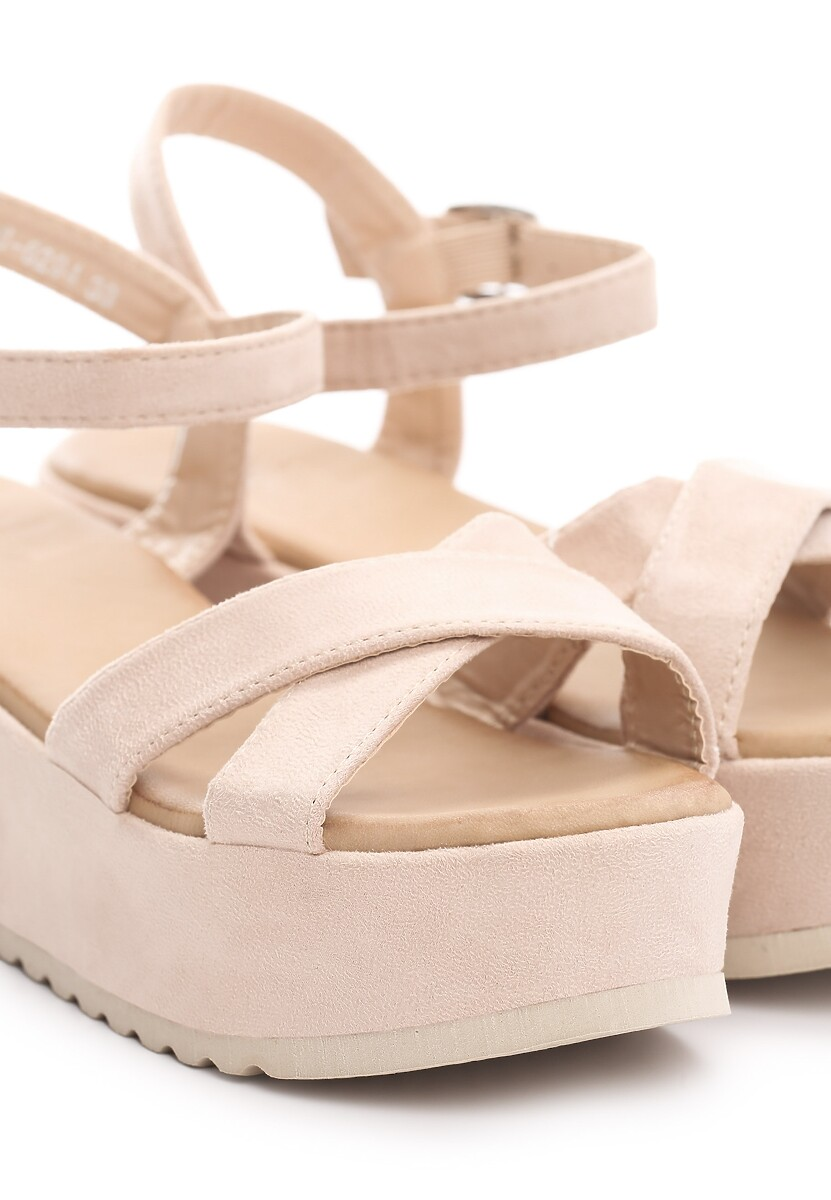 Beżowe Sandały Turmoil