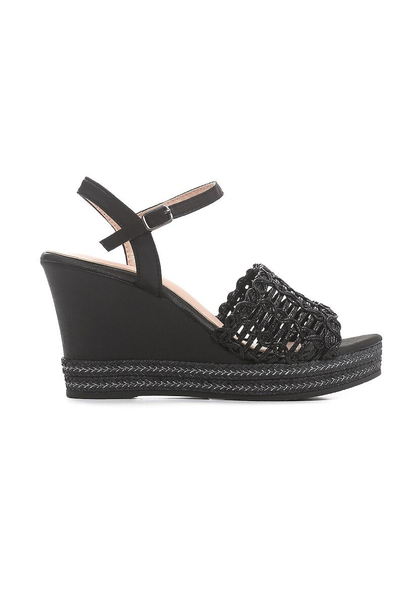 Czarne Sandały Plosive