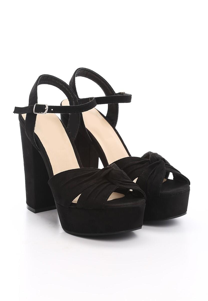 Czarne Sandały Poses