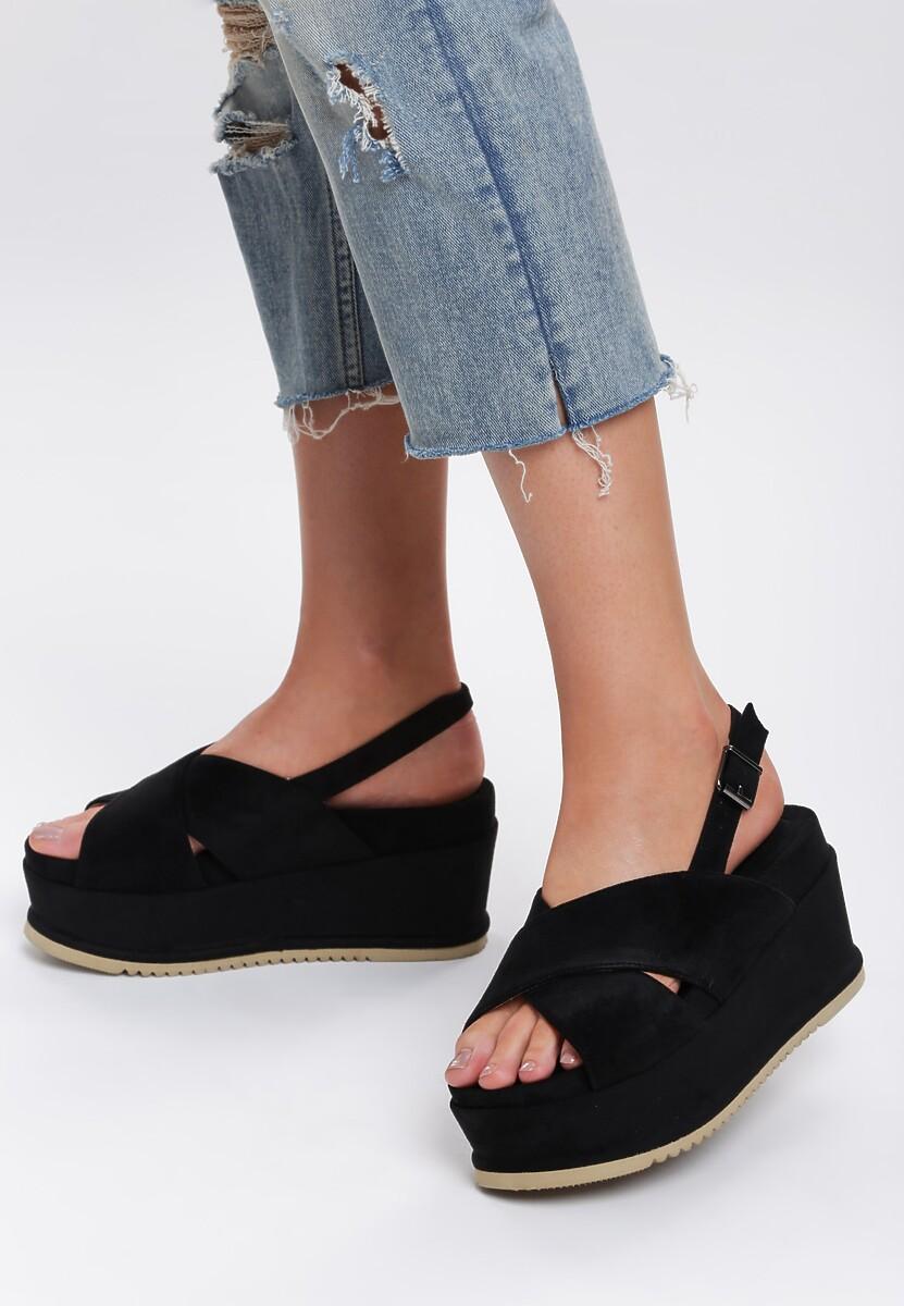 Czarne Sandały Thermogenic