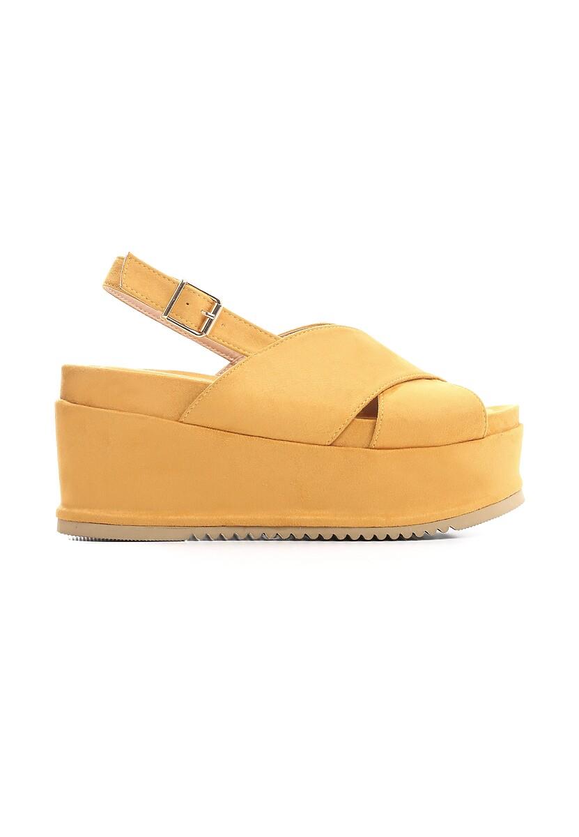 Żółte Sandały Thermogenic