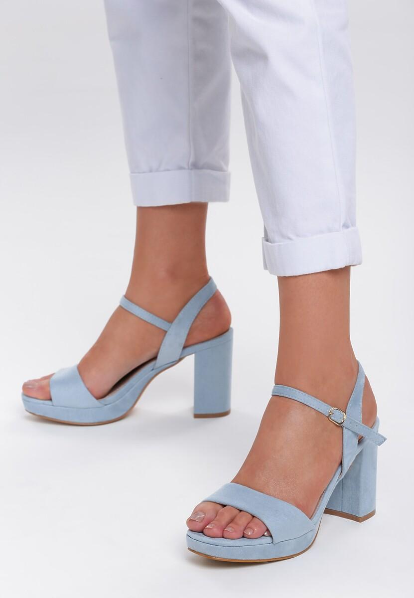 Niebieskie Sandały Strangely