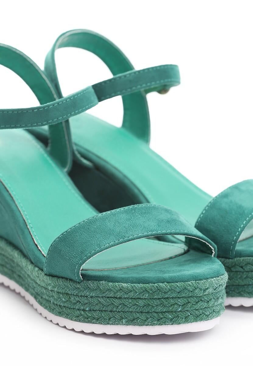 Zielone Sandały Take One'S Time