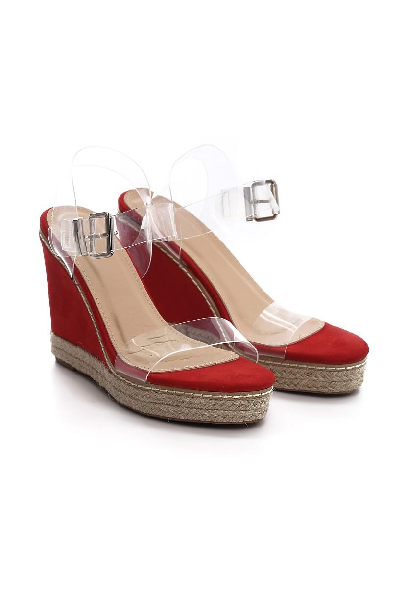 Czerwone Sandały Clog