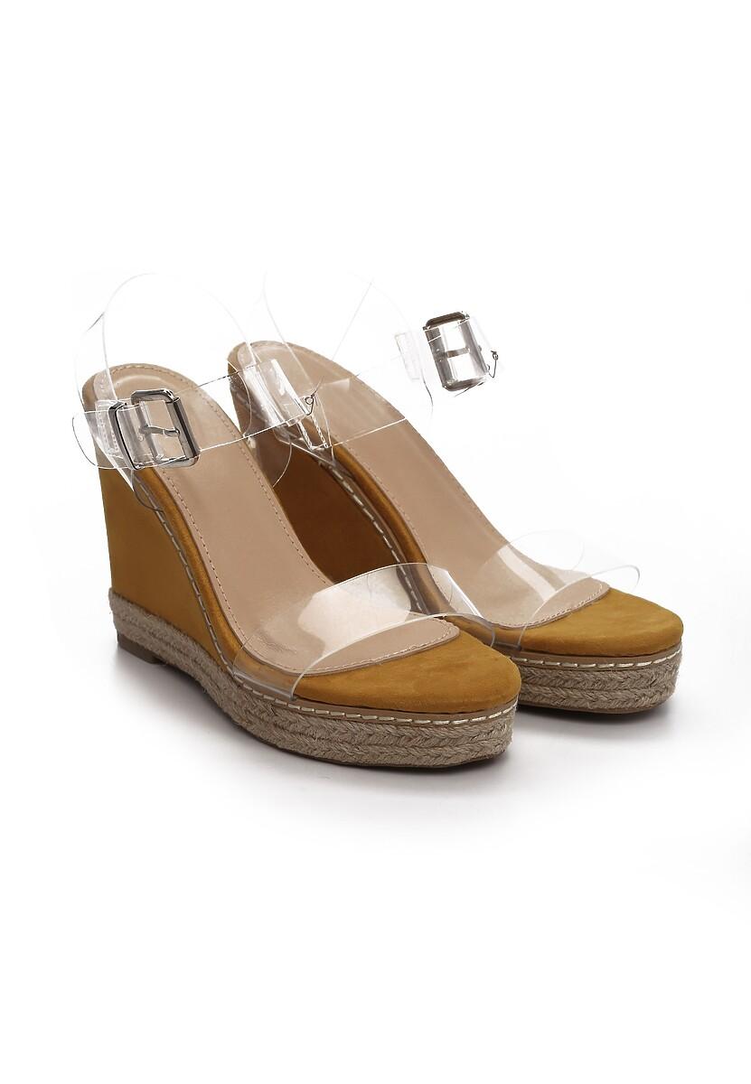 Żółte Sandały Clog