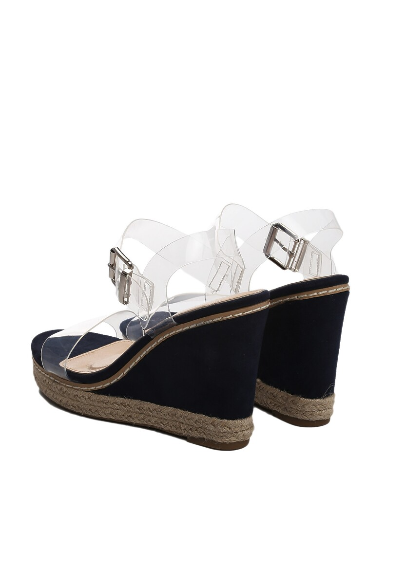 Niebieskie Sandały Clog