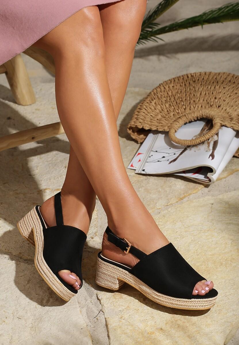 Czarne Sandały Upside