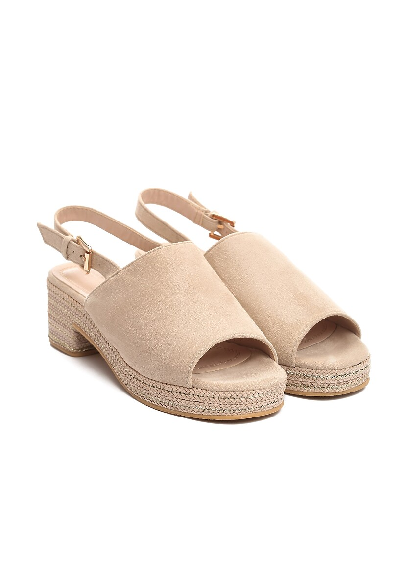 Beżowe Sandały Upside