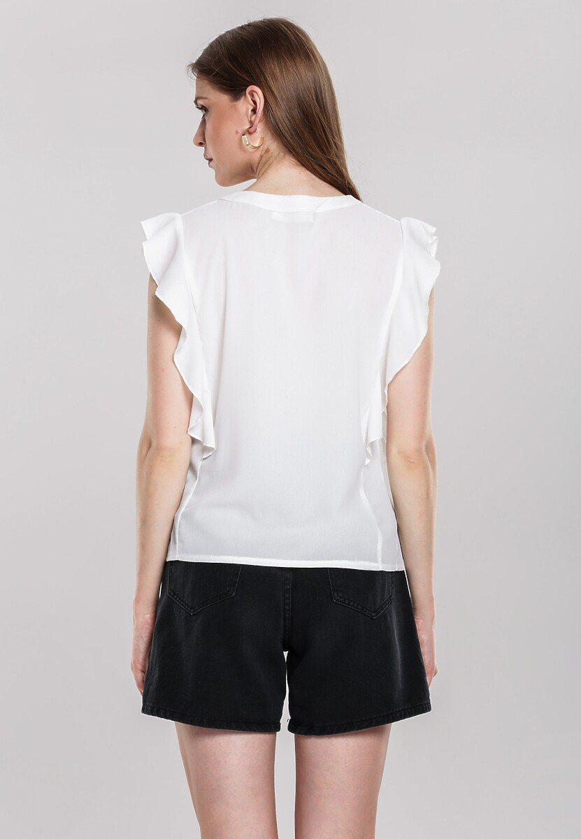 Biała Bluzka Derange