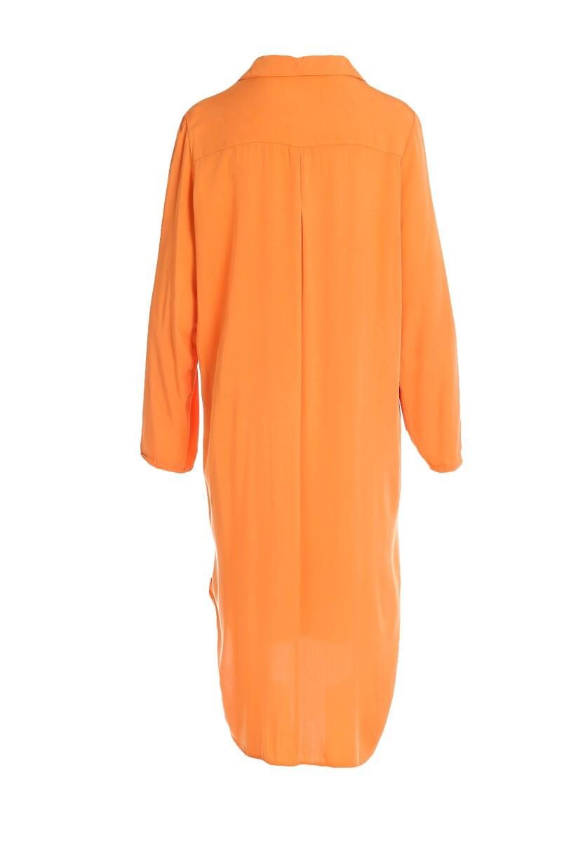 Pomarańczowa Sukienka Acquiesce