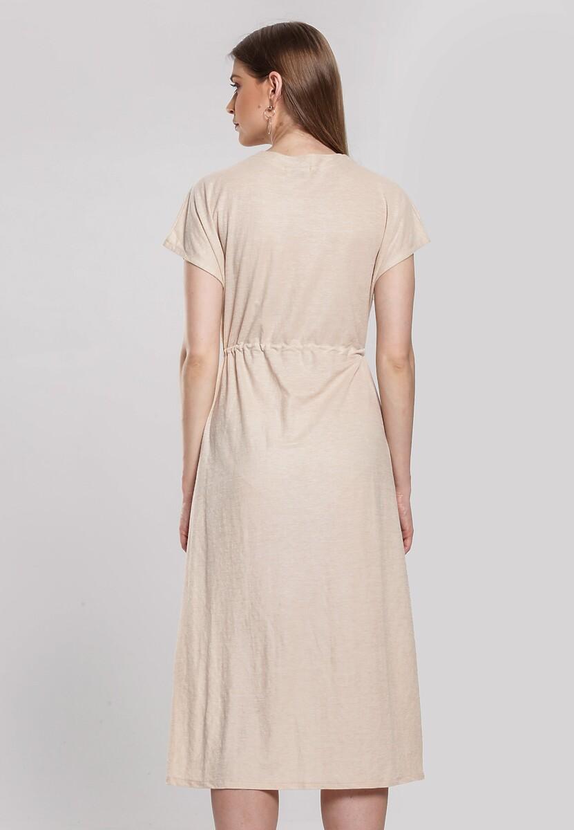 Beżowa Sukienka Obstructor