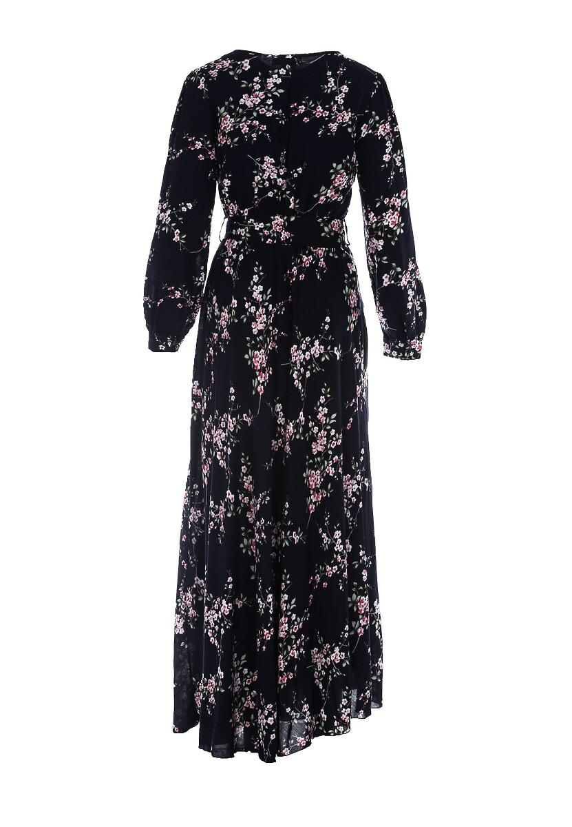 Granatowa Sukienka Repleteness