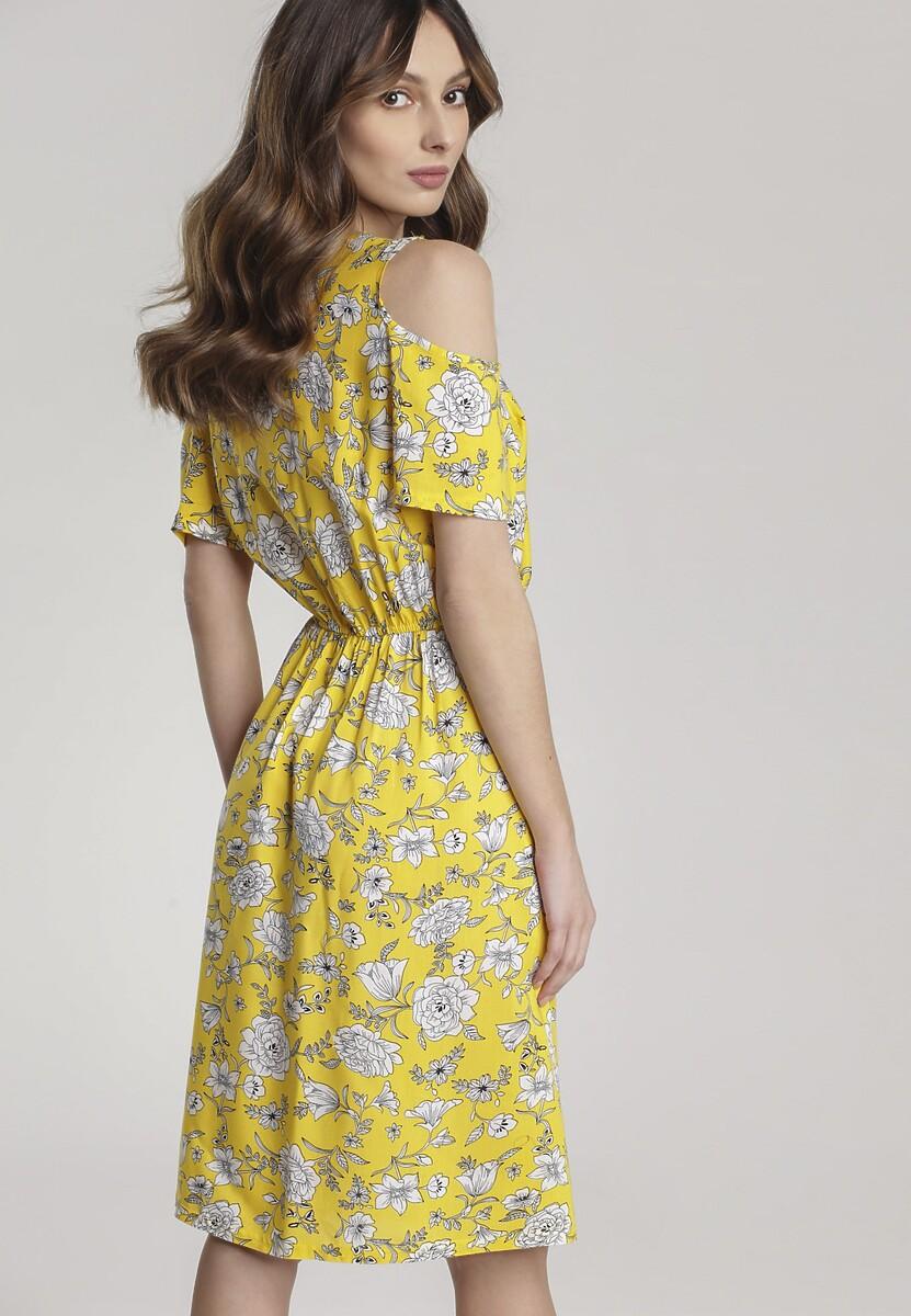 Żółta Sukienka Eat Out