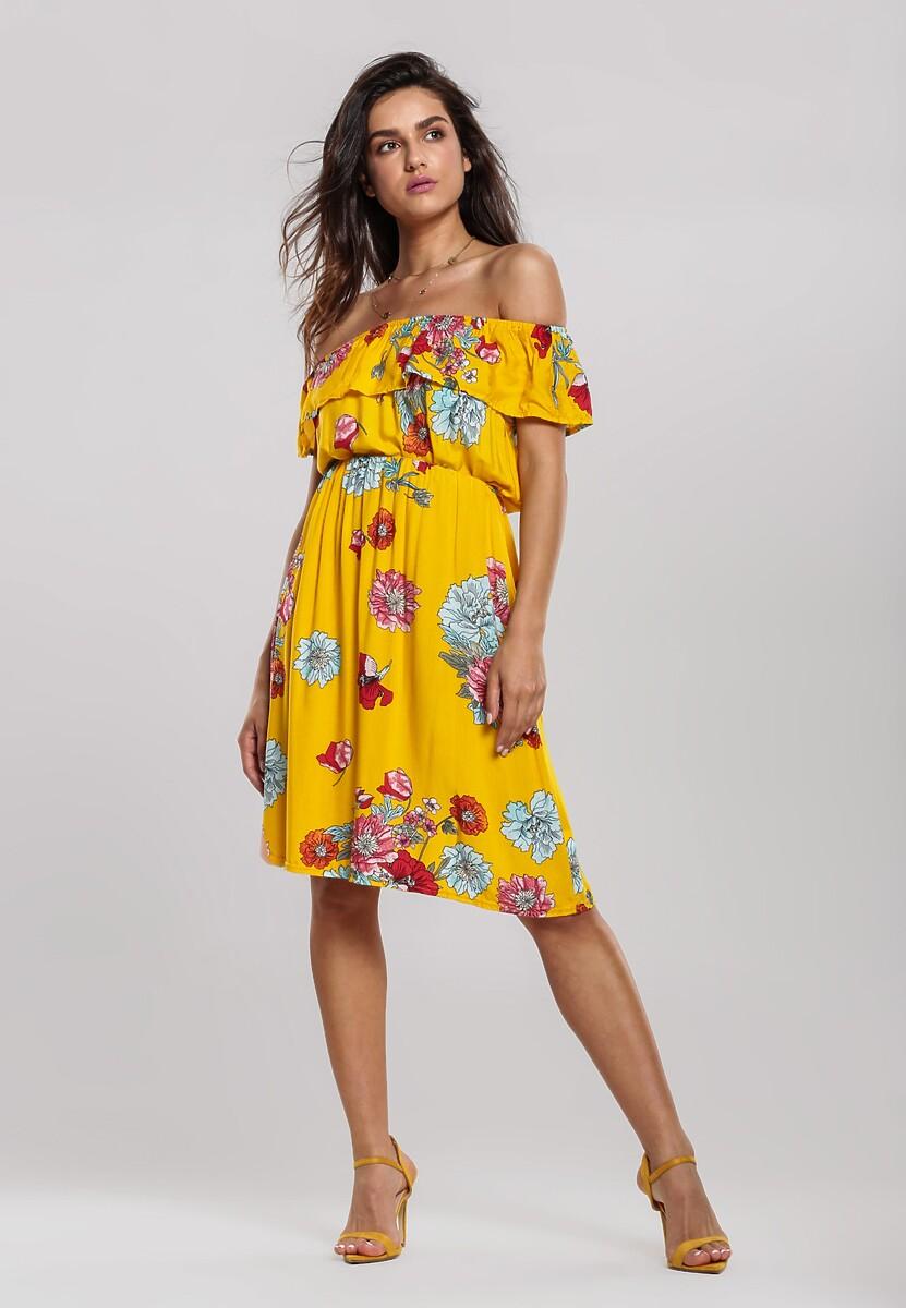 Żółta Sukienka Catkins