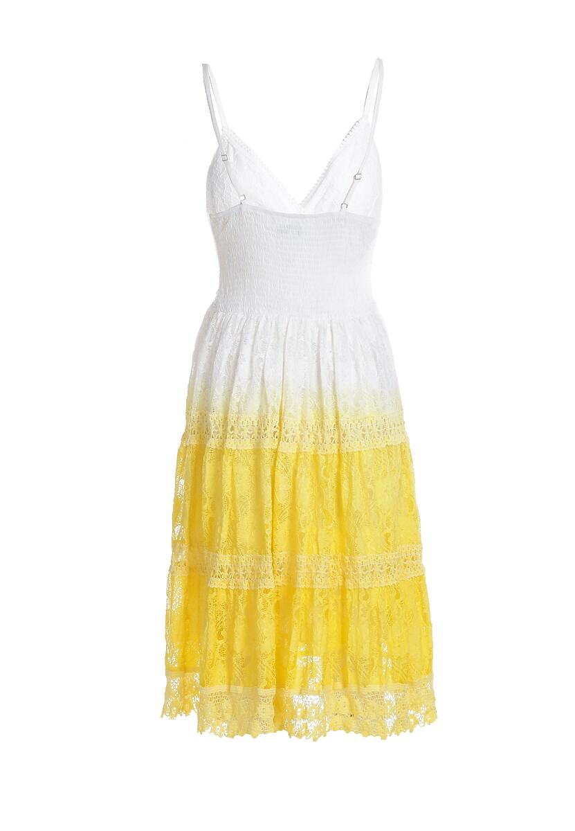 Żółta Sukienka Camera