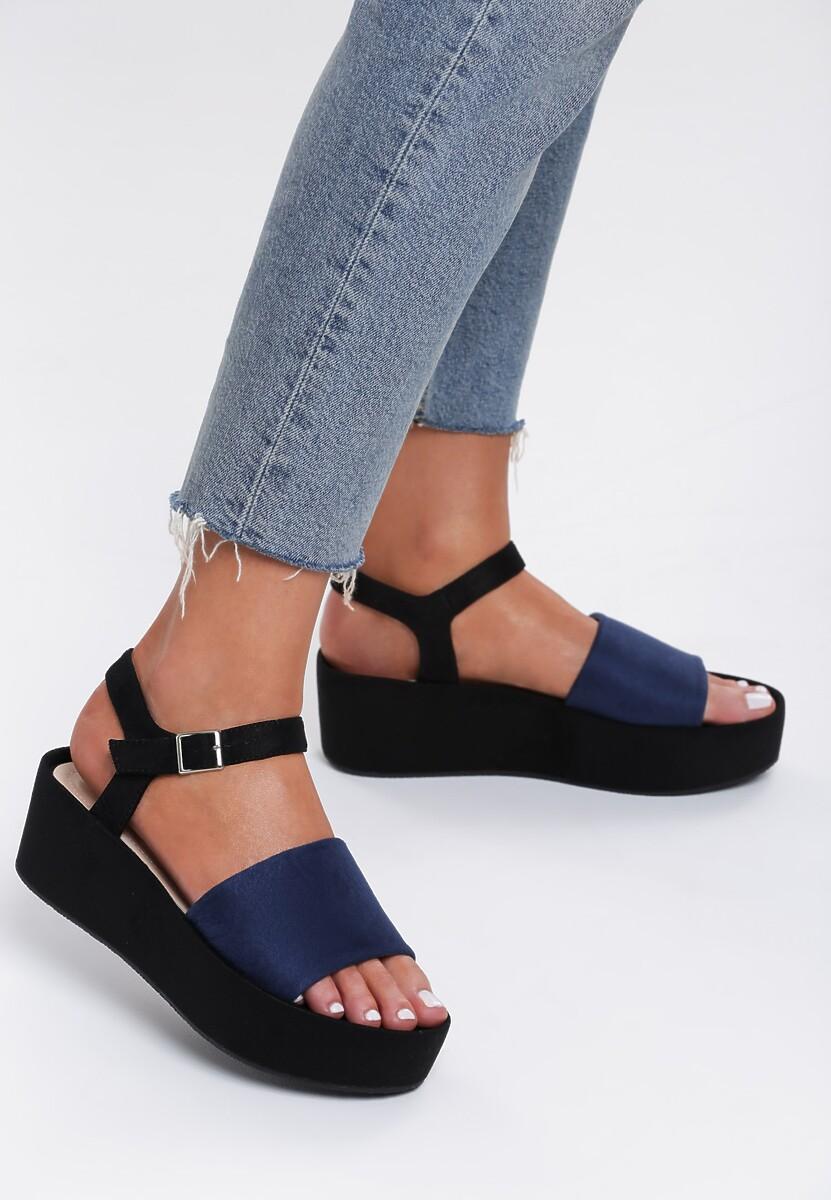 Ciemnoniebieskie Sandały Back