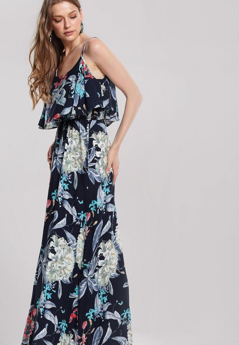 Granatowa Sukienka Flabby