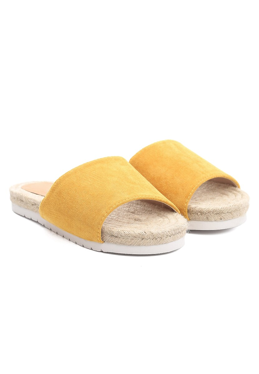 Żółte Klapki Thick-Skinned