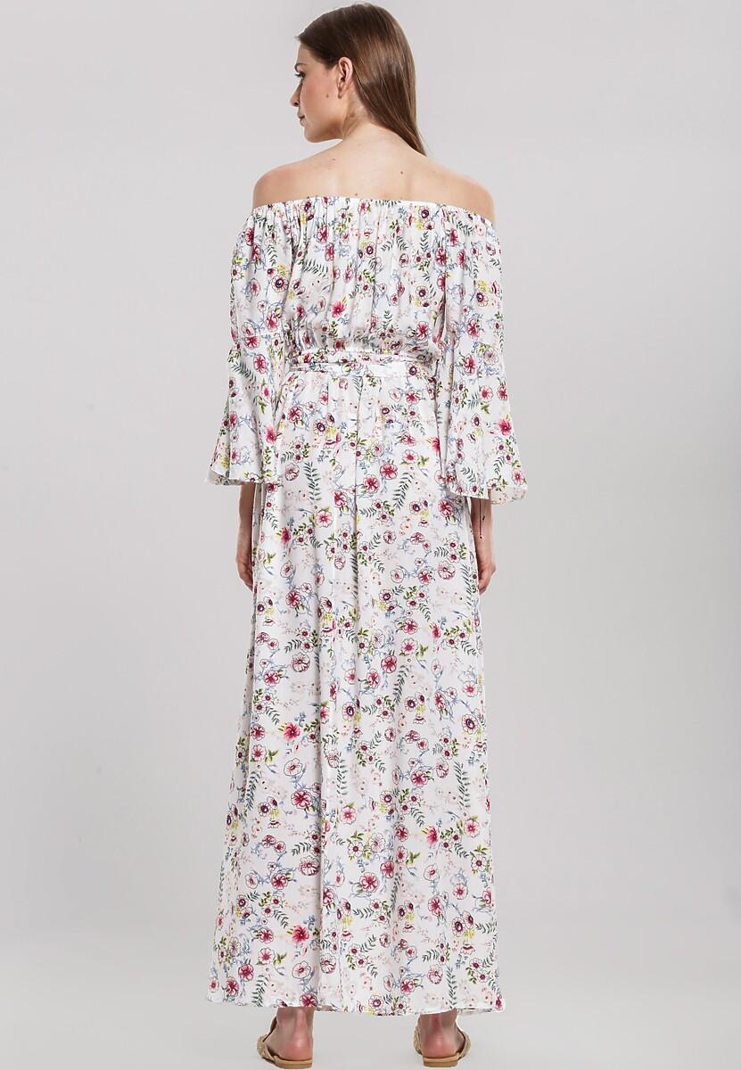 Biała Sukienka Staggering