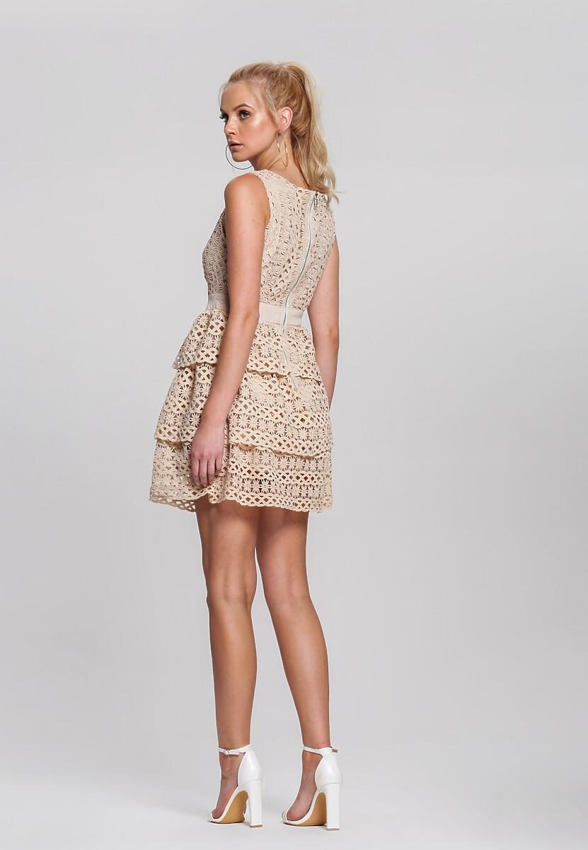 Beżowa Sukienka Grinning