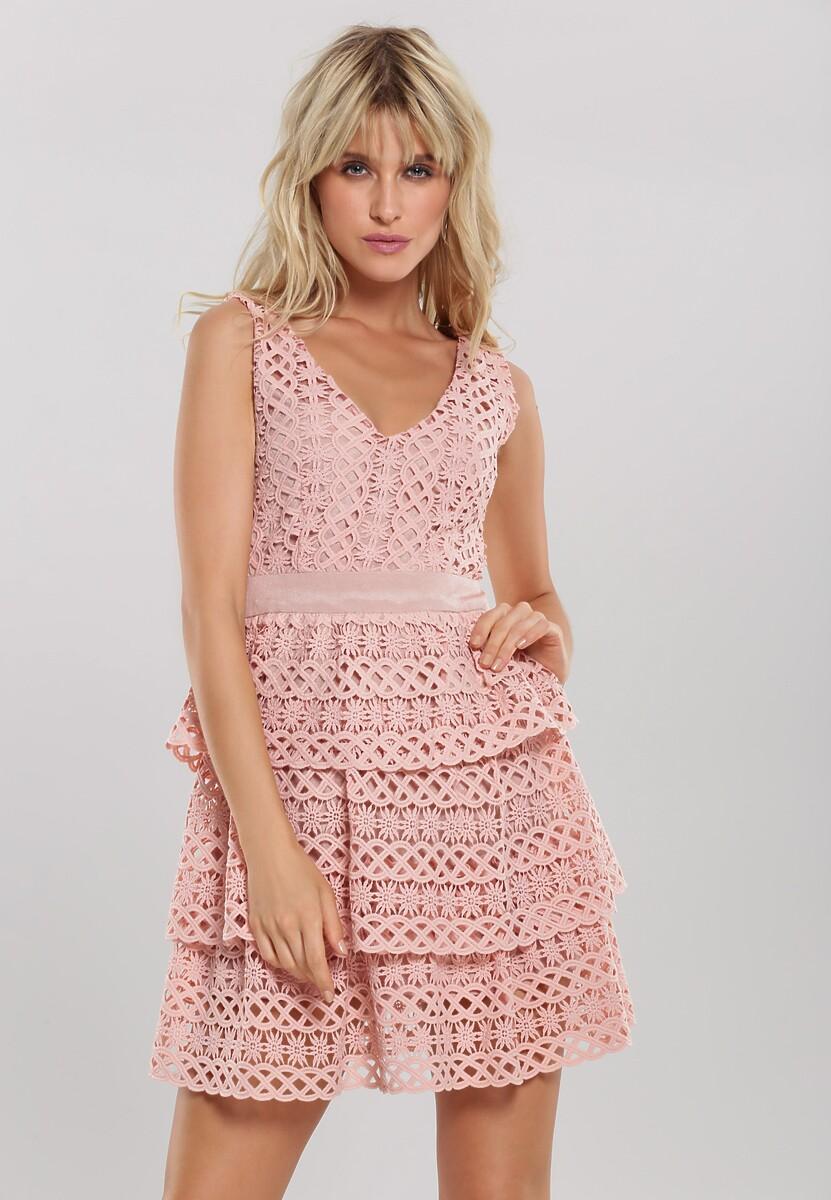Różowa Sukienka Grinning