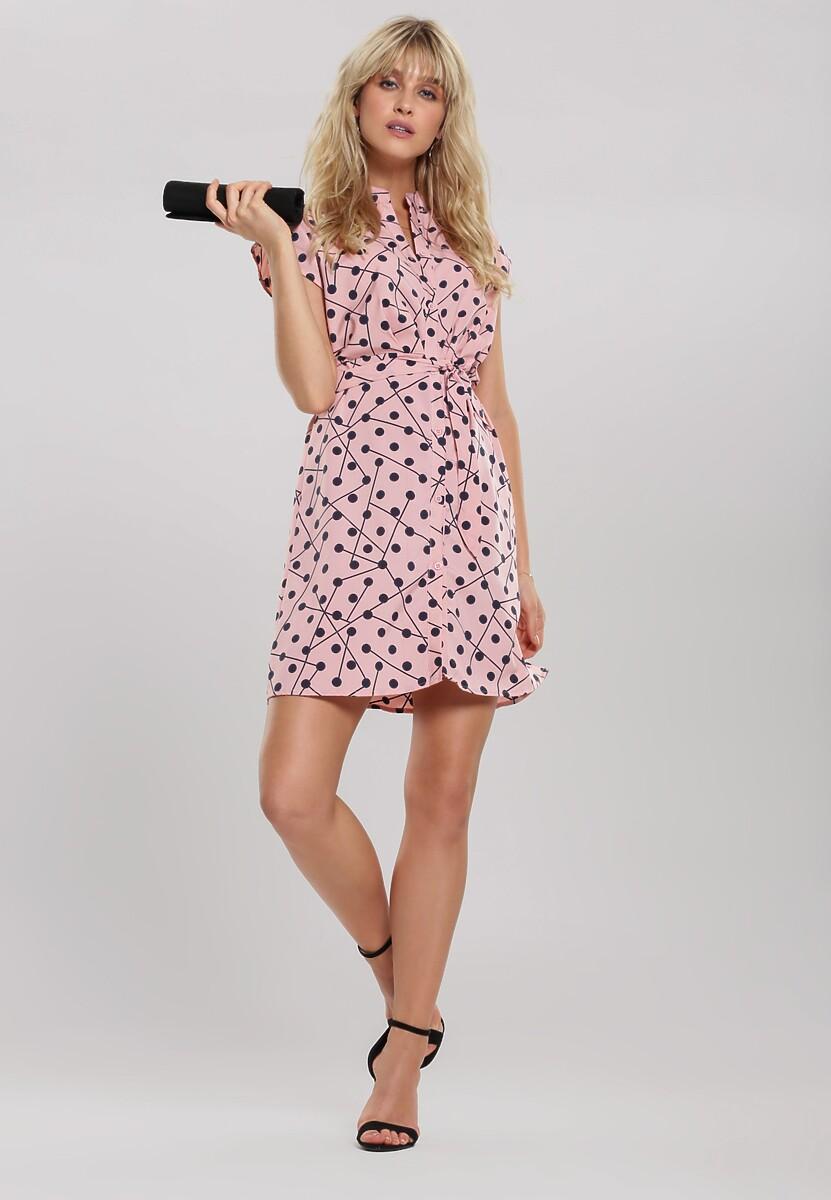Różowa Sukienka Harmonic