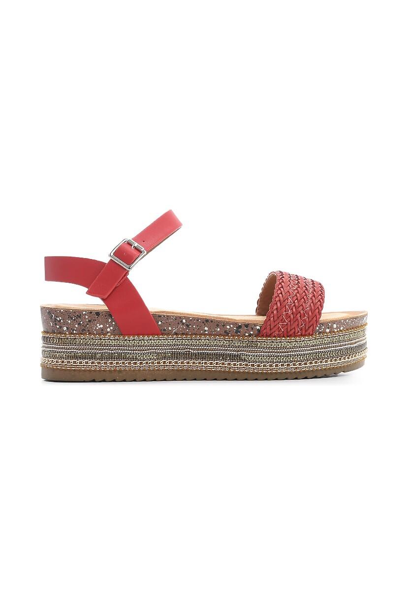 Czerwone Sandały Inside Beauty
