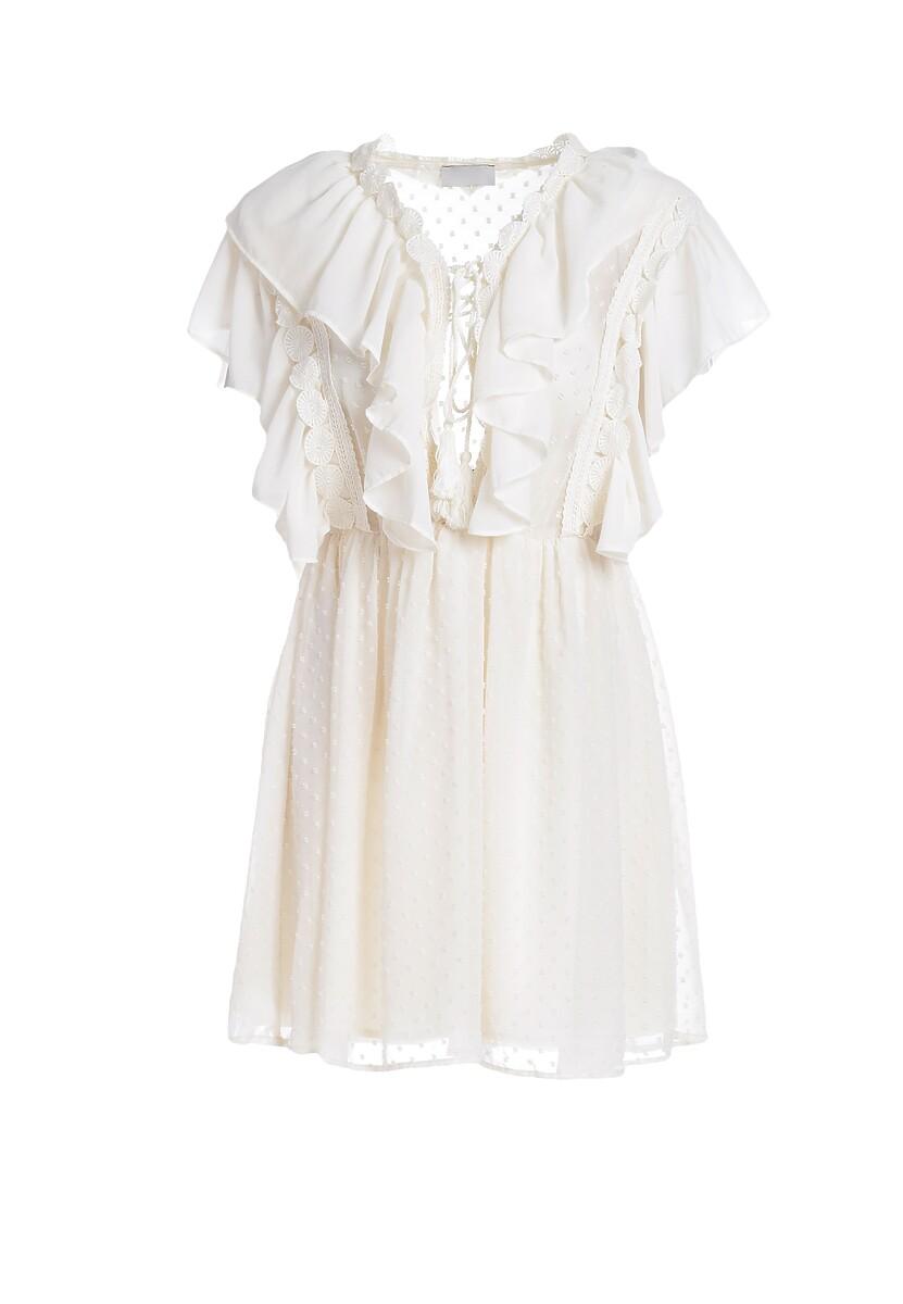 Jasnobeżowa Sukienka Solar Eclipse