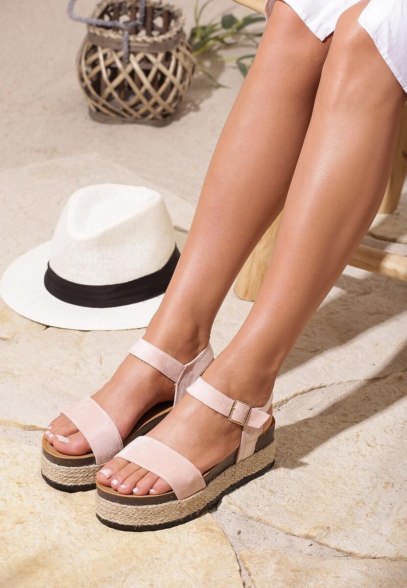 Różowe Sandały Friday
