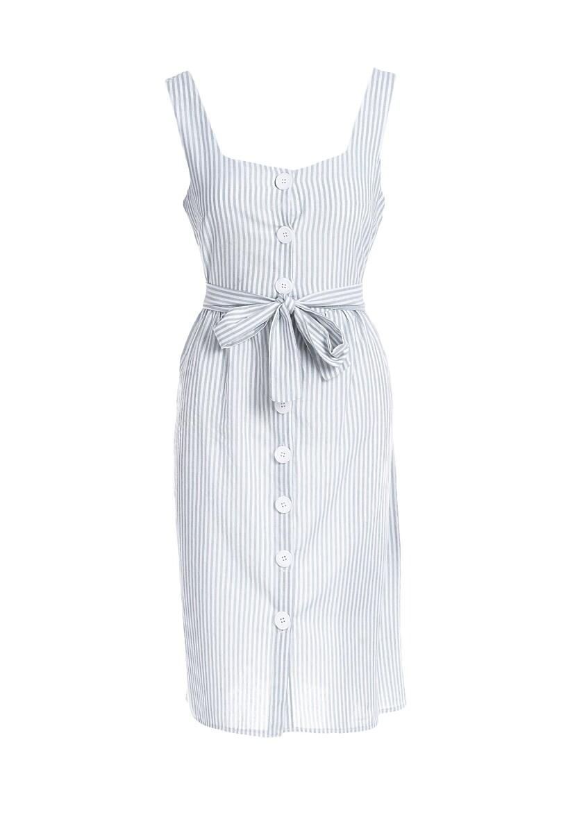 Miętowa Sukienka Smooth Along