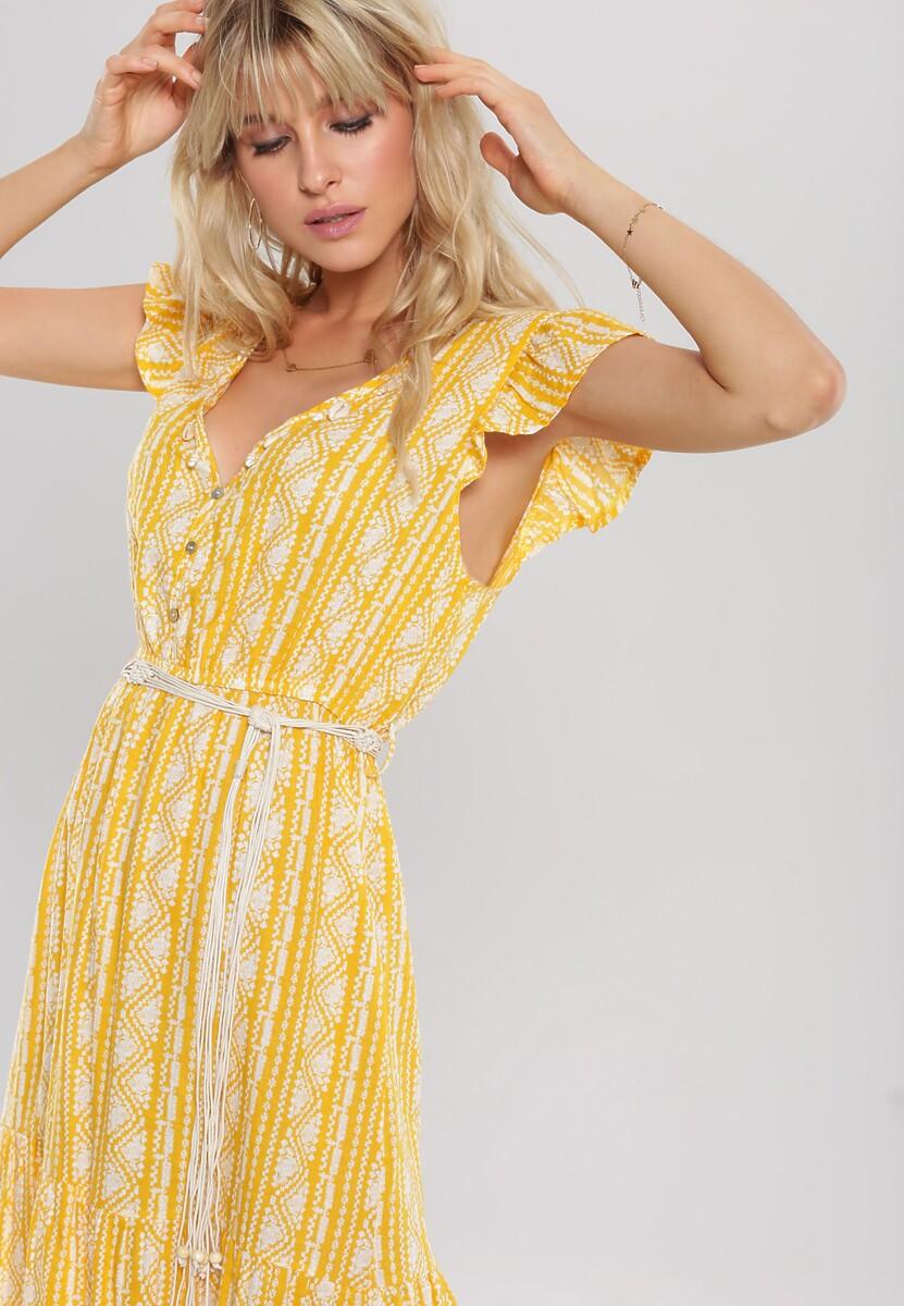 Żółta Sukienka Be Convenient