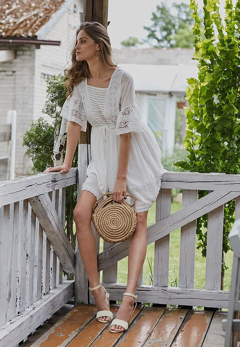 Biała Sukienka Treselle
