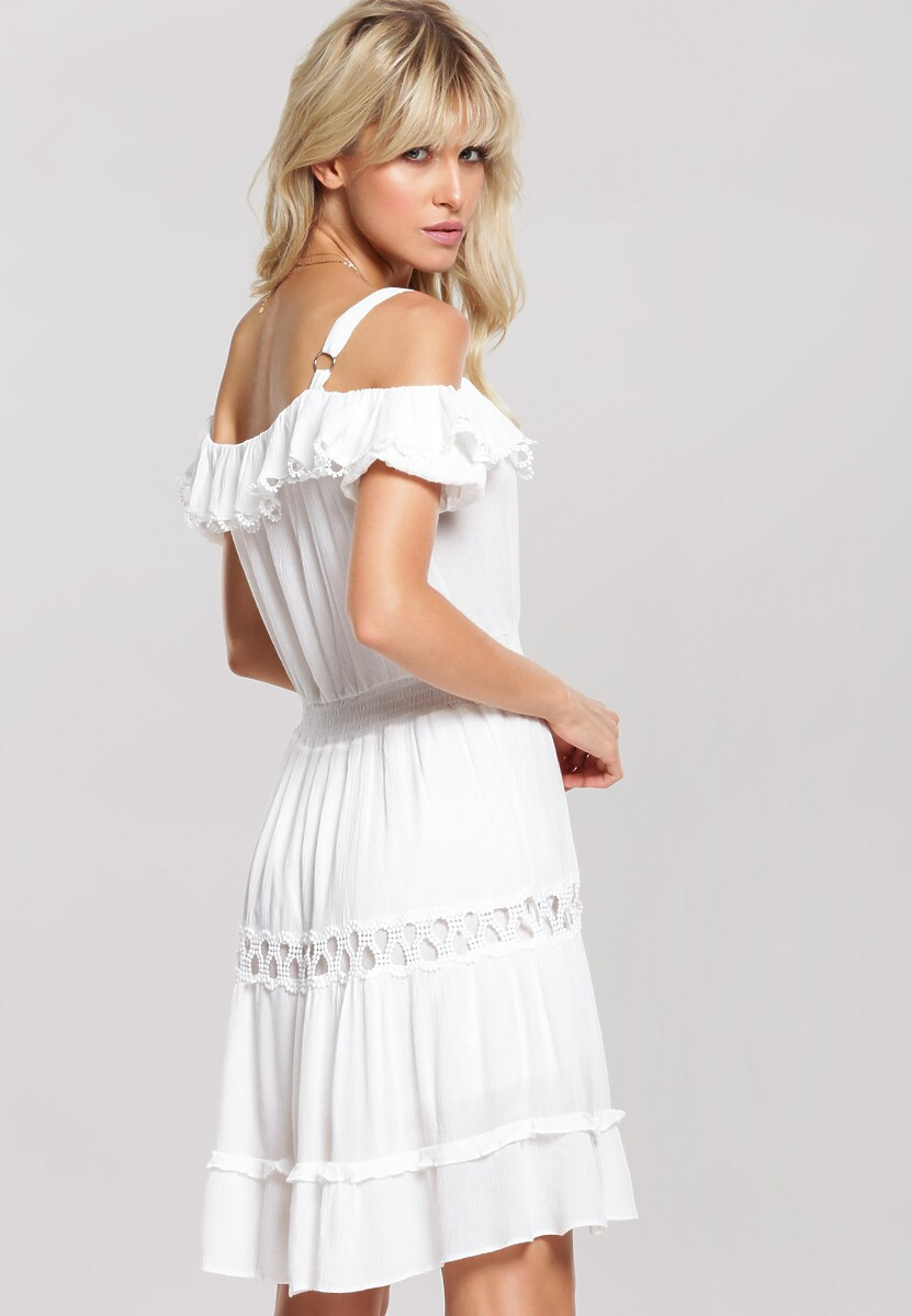 Biała Sukienka Waterfall Happiness