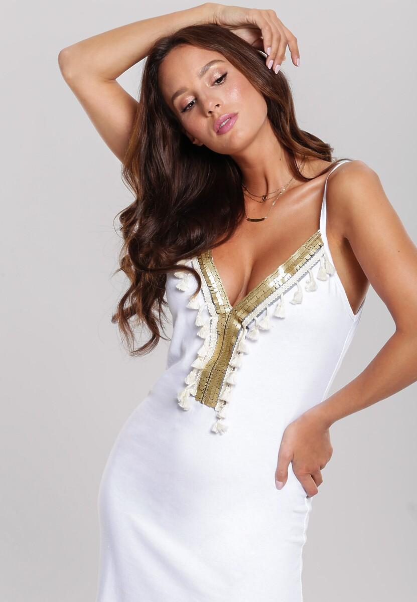 Biała Sukienka Hellish Flower