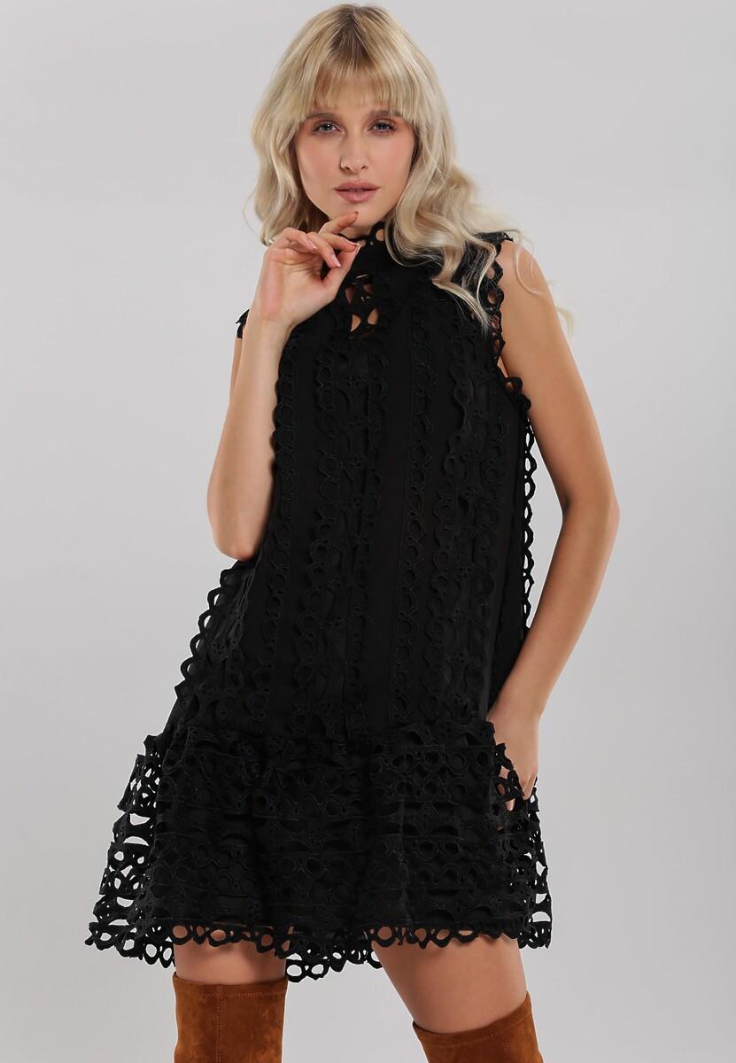 Czarna Sukienka Elemental