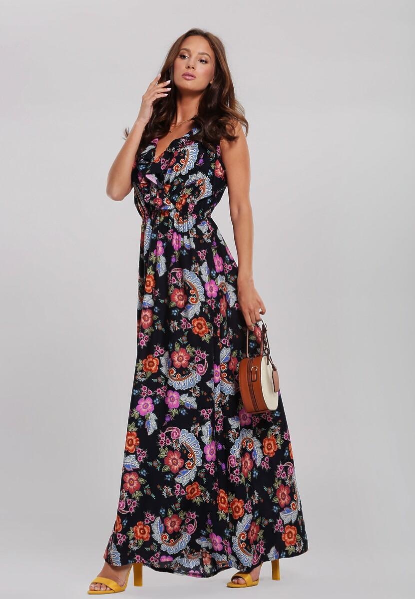 Granatowa Sukienka Pointed