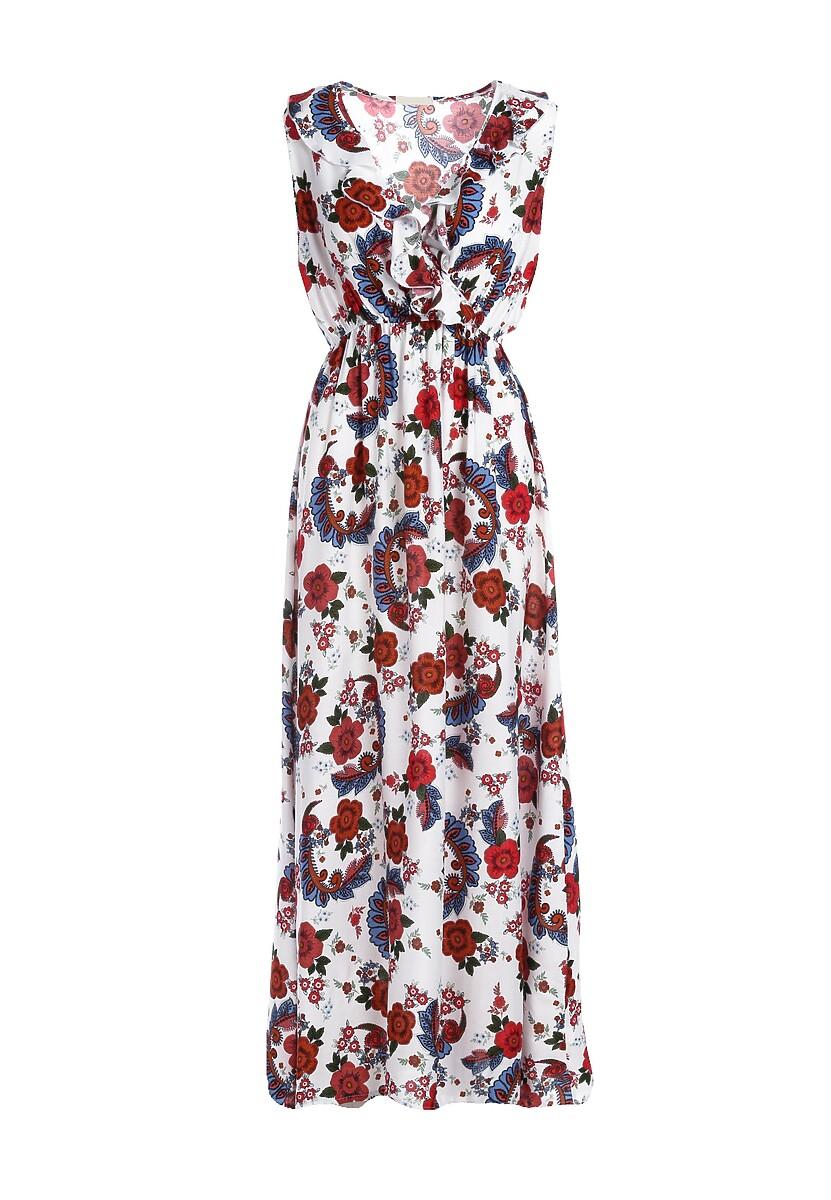 Biała Sukienka Pointed