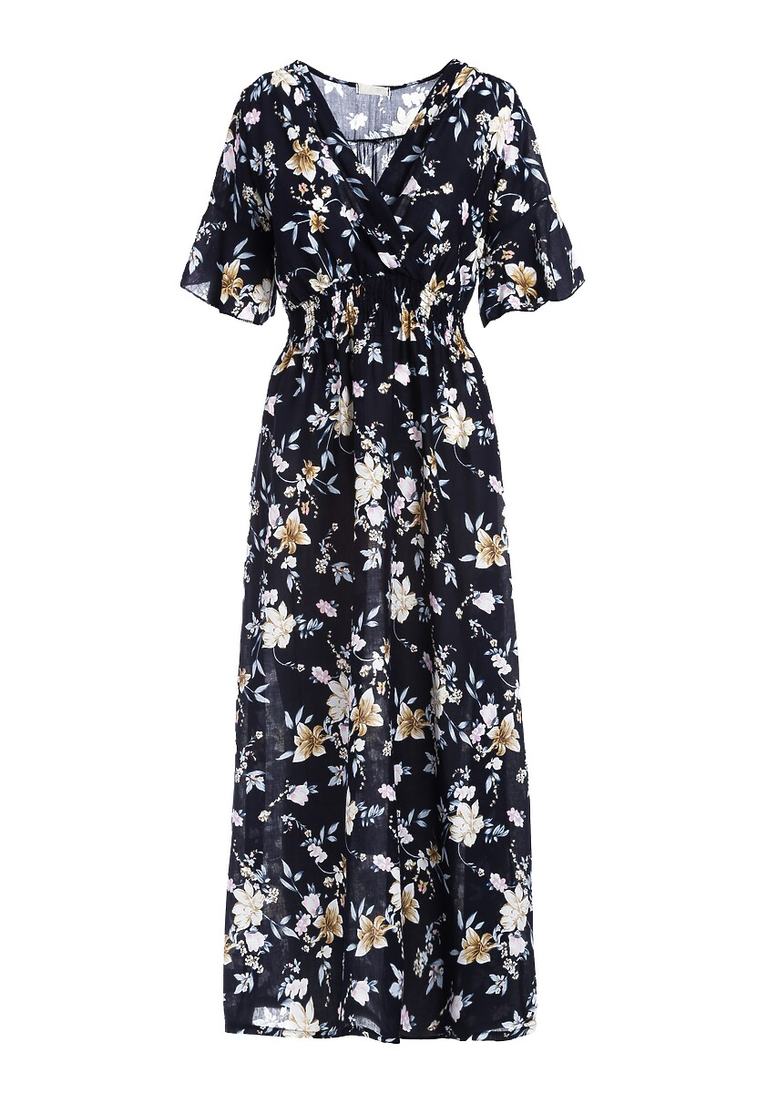 Granatowa Sukienka Vine