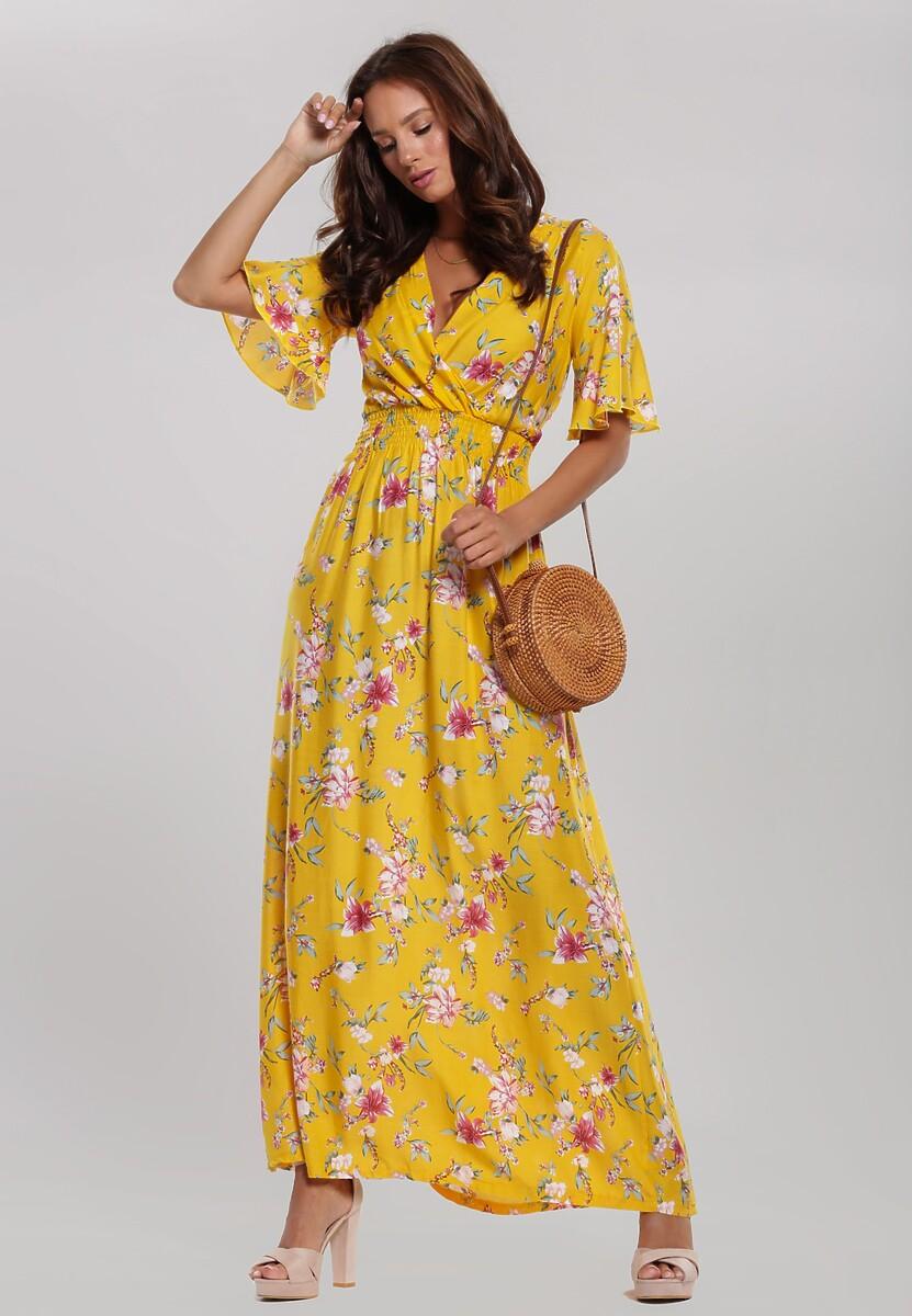 Żółta Sukienka Vine