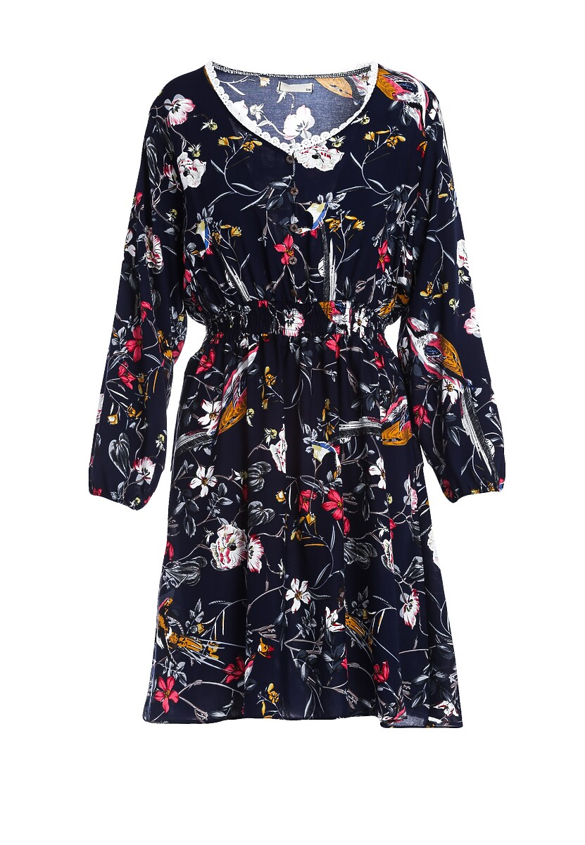 Granatowa Sukienka Cluster