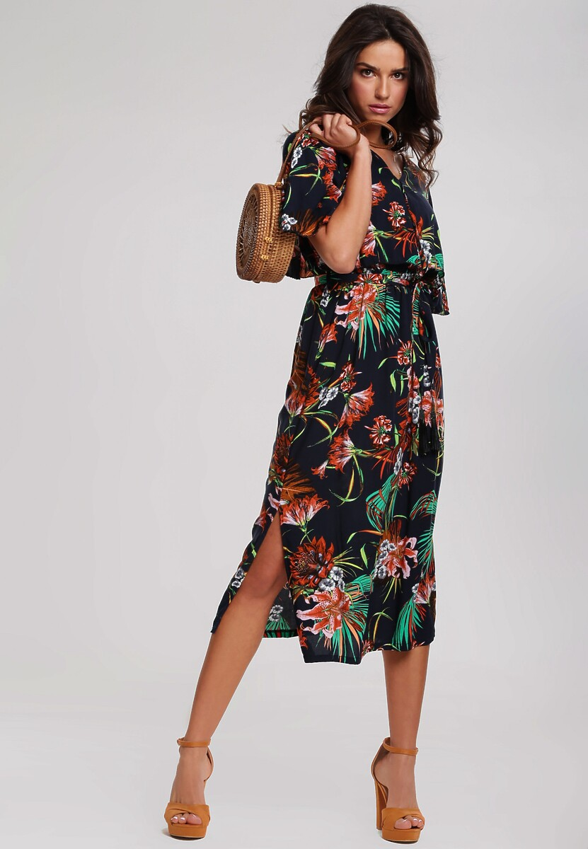 Granatowa Sukienka Efflorescence