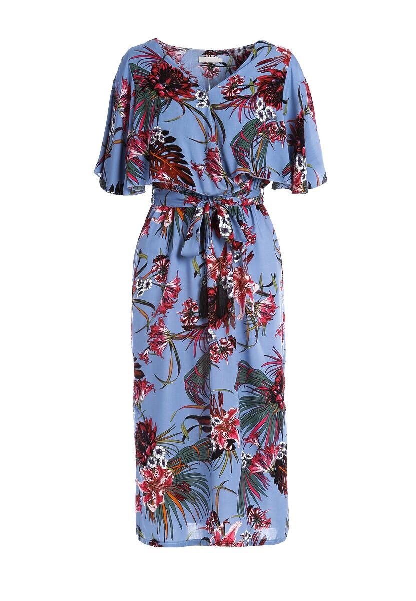 Niebieska Sukienka Efflorescence